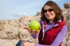 Apple girl Stock Images
