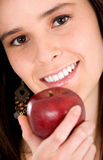 Apple girl smiling Stock Image
