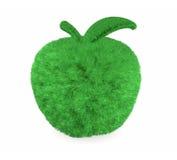 Apple gjorde med grönt gräs Arkivfoton