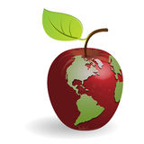 Apple-globe Stock Image