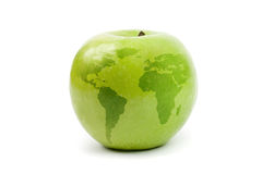 Apple globe Royalty Free Stock Images