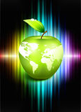 Apple Globe on Abstract Spectrum Background Stock Photography