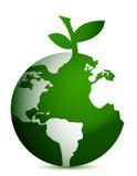 Apple globe illustration design Stock Image