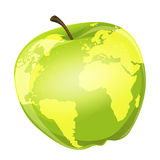 Apple globe Royalty Free Stock Photos