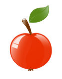 Apple glossy icon Royalty Free Stock Images