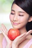Apple is goed voor gezondheid Royalty-vrije Stock Foto's