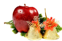 Apple and golden bells Stock Photo