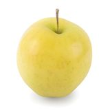 Apple golden delicious (w/path) Image stock