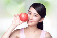 Apple is good for health Royalty Free Stock Photography