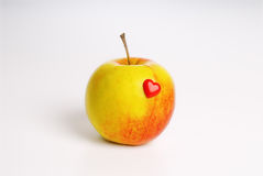 Apple is good for your heart Royalty Free Stock Photo