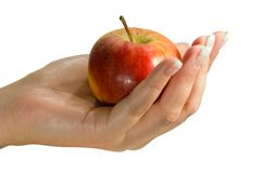 apple gospodarstwa Zdjęcia Royalty Free