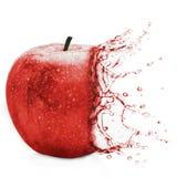 Apple - gräsplanfärgstänk Fotografering för Bildbyråer