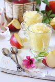 Apple granita, frozen summer dessert Royalty Free Stock Image