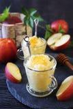 Apple granita with honey, frozen summer dessert Royalty Free Stock Photo