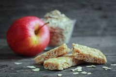Apple granola barre Stock Image
