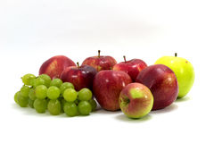 Apple and grape Stock Image