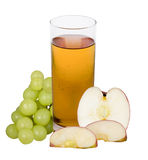 Apple grape juice Royalty Free Stock Photography