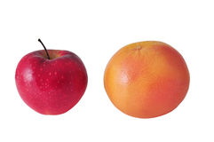 Apple and Grapefruit Royalty Free Stock Photography