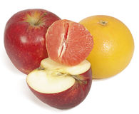 Apple and grapefruit Stock Images