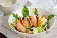 Apple ,Grapefruit and rocket salad Royalty Free Stock Photography