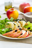 Apple ,Grapefruit,walnut salad Royalty Free Stock Images