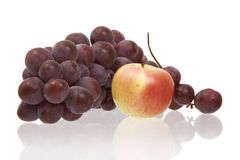 Apple and grapes Royalty Free Stock Photo