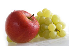 Apple and grapes Royalty Free Stock Photos