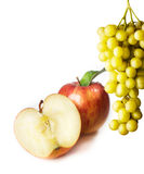 Apple and grapes Stock Photography
