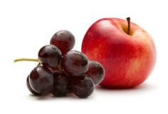 Apple and grapes Royalty Free Stock Images