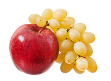 Apple and grapes Stock Image
