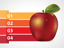 Apple with graphic informations. Vector illustration Royalty Free Stock Photo