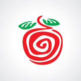Apple Graphic. Apple logo element and graphic Royalty Free Stock Image