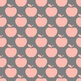 Apple gray pink seamless pattern background Royalty Free Stock Photo