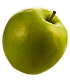 Apple green. Isolated white apple food studio green Royalty Free Stock Photo