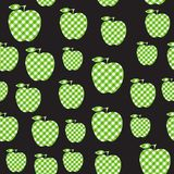 Vector Apple green checkered abstract. Seamless pattern isolated on black background. Apple green checkered abstract. Seamless pattern isolated on black royalty free illustration