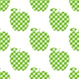 Vector Apple green checkered abstract. Seamless pattern isolated on white background. Apple green checkered abstract. Seamless pattern isolated on white stock illustration