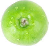 Apple, green, drop water Stock Images