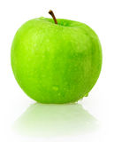 Apple, green, drop water Royalty Free Stock Photos