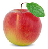 Apple with green leaf Stock Images