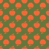 Apple green orange seamless pattern background Royalty Free Stock Photography