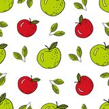 Apple green and red stock illustration