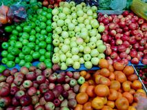 Apple green red delicius. Tangerine Royalty Free Stock Photo