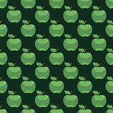 Apple green seamless pattern background. Vector illustration Royalty Free Stock Photos
