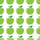 Apple green seamless pattern background Stock Images