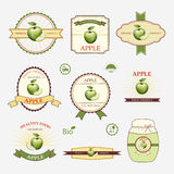 Apple green, set of label design Stock Photo