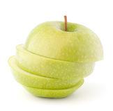 Apple green sliced Royalty Free Stock Images