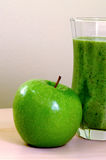 Apple green smoothie Stock Images