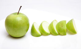 Apple. Green apple on white background Stock Images
