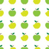 Apple green white seamless pattern background. Vector illustration Royalty Free Stock Photography