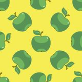 Apple green yellow seamless pattern background. Vector illustration Royalty Free Stock Image